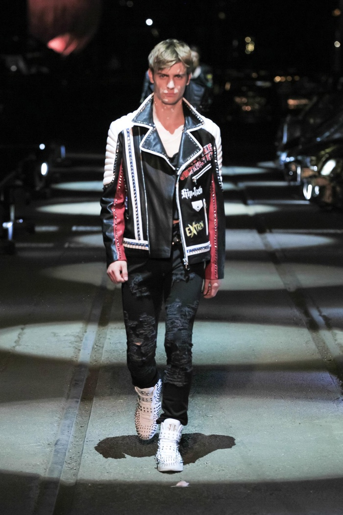 A look from Philipp Plein's spring 2016 mens collection