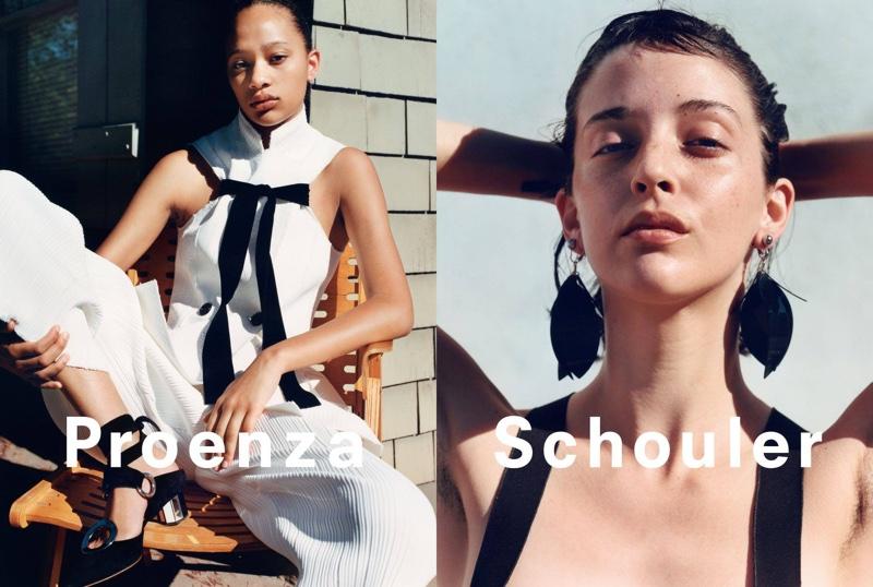 Selena Forrest and Nicole-Antonia Spagnola star in Proenza Schouler's spring-summer 2016 campaign