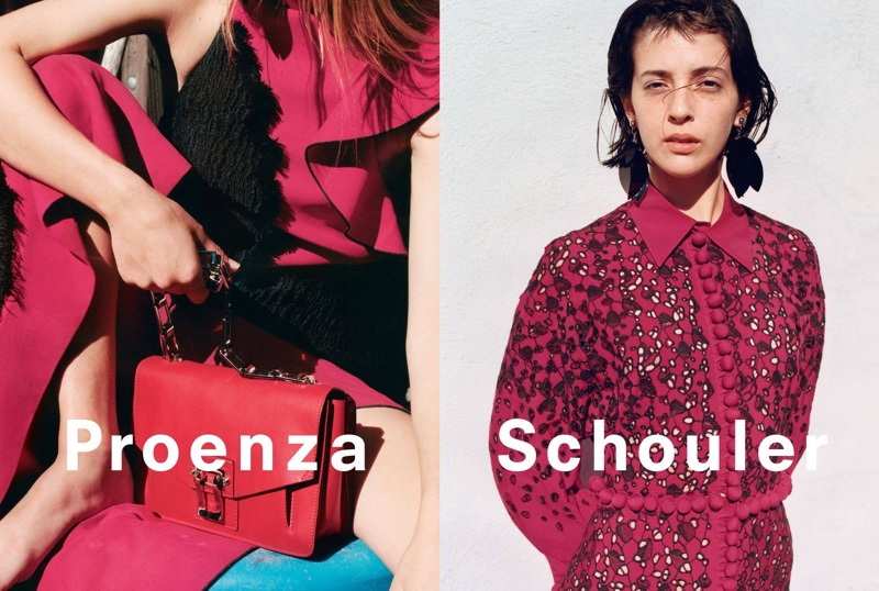 An image from Proenza Schouler's spring-summer 2016 campaign featuring the Hava Chain bag