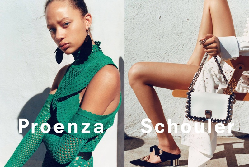 An image from Proenza Schouler's spring-summer 2016 campaign featuring the Courier bag