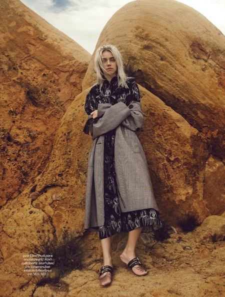 Pyper America Smith Poses in Modern Looks for L'Officiel Thailand