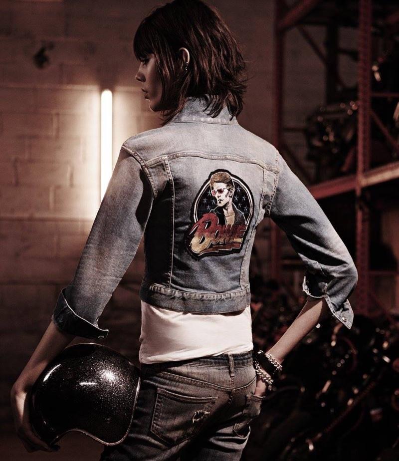 R13 Bowie Shrunken-Fit Trucker Jacket, Boy T and Alison Skinny Crop Jeans