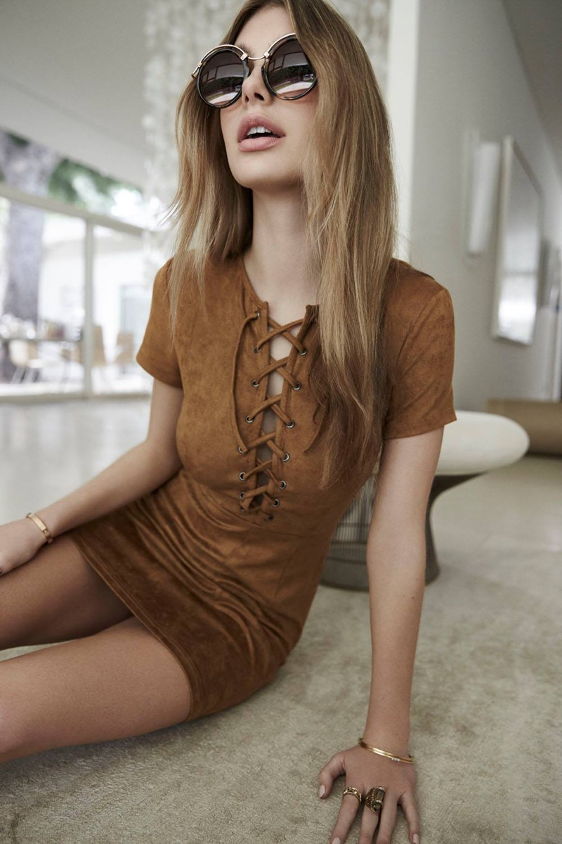 Rise of Dawn Love Child Brown Lace-up Dress