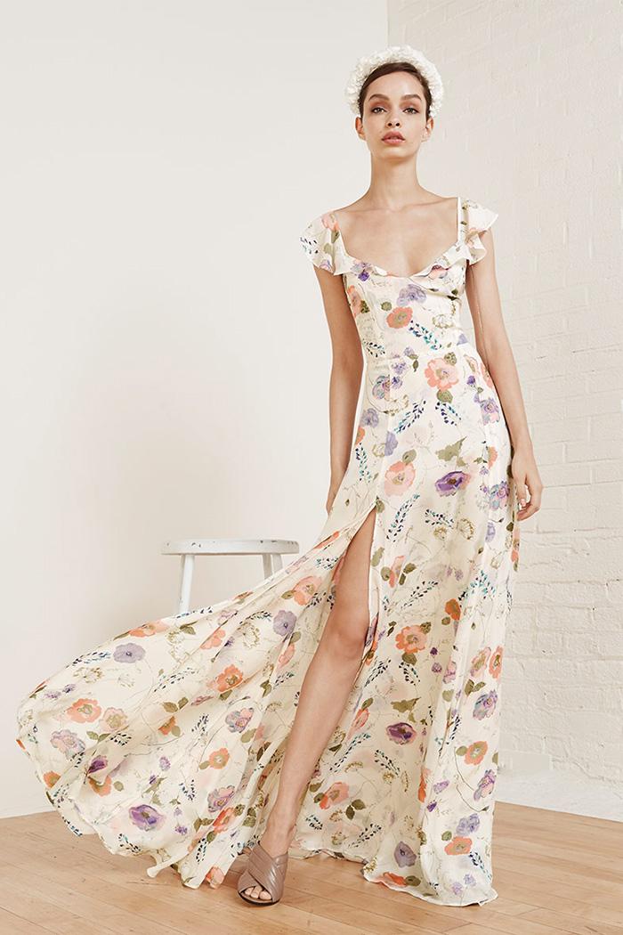Floral Print Wedding Dresses 11 Cool Reformation Julieta Floral Print