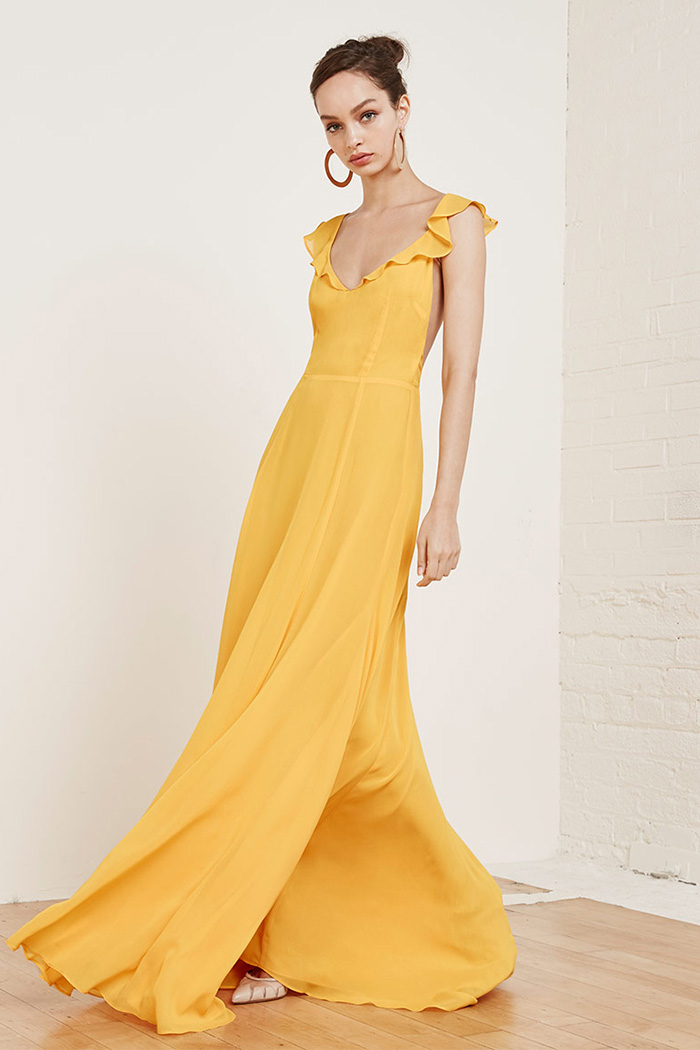 Wedding Dresses Yellow 6 Ideal Reformation Isabella Dress in