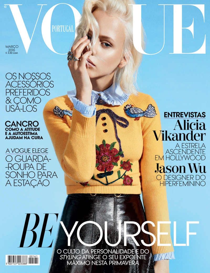 Laura Mayerhofer on Vogue Portugal March 2016 cover