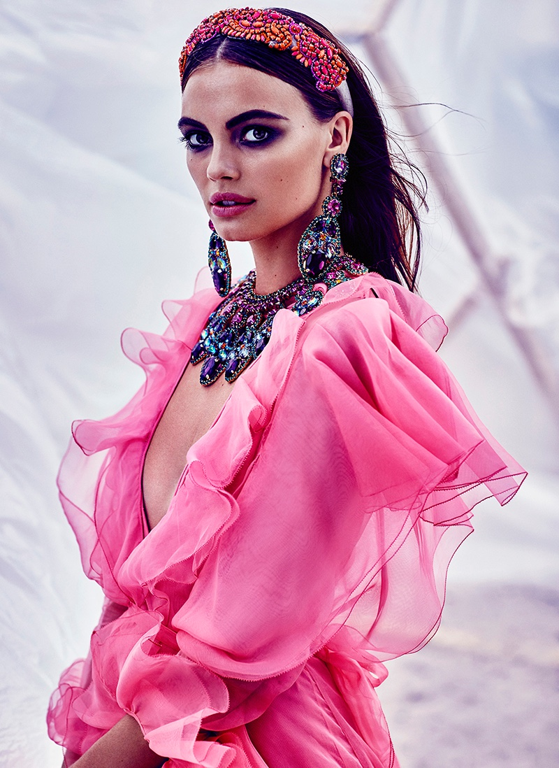 Kristina Peric Models Dreamy Looks for FASHION by Chris Nicholls
