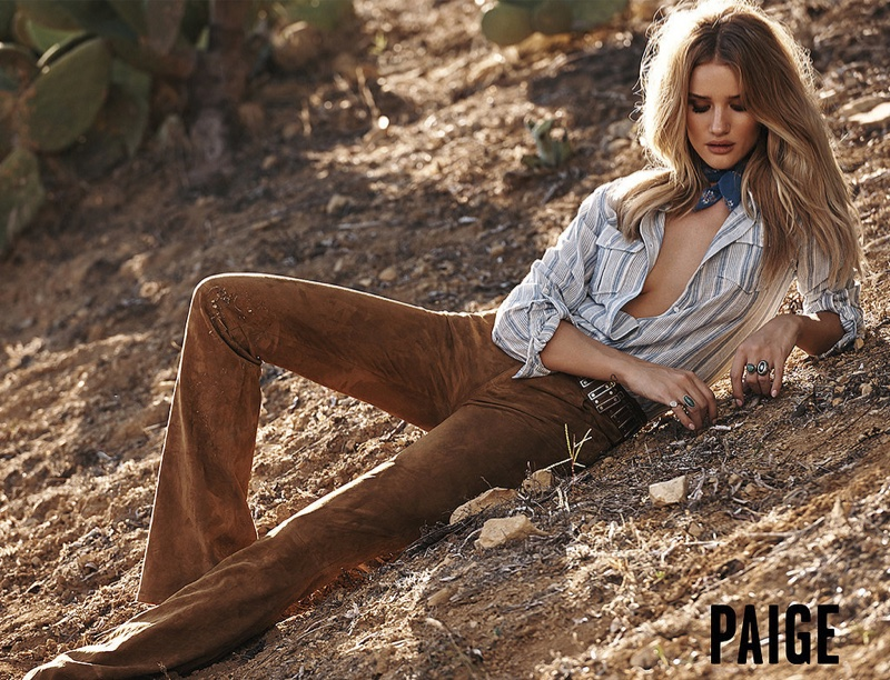 Rosie Huntington-Whiteley Is Pure Bombshell In Paige Denim`s Spring Ads