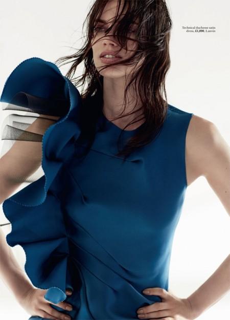 Rianne Ten Haken Models Romantic Ruffles for Marie Claire UK by David Roemer