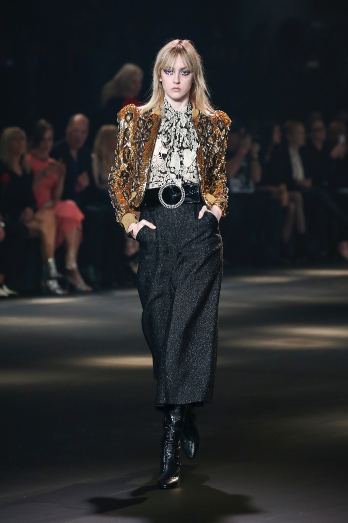 Saint Laurent Serves Up 70s Vibes for Fall 2016