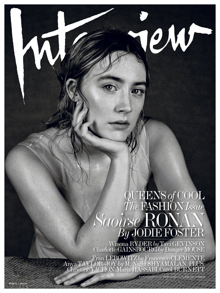 Saoirse Ronan on Interview Magazine March 2016 Cover