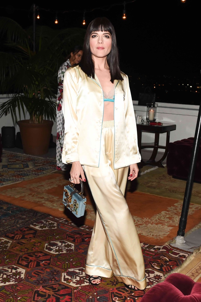 Selma Blair at Dolce & Gabbana's Pajama Party. Photo: BFA for Dolce & Gabbana