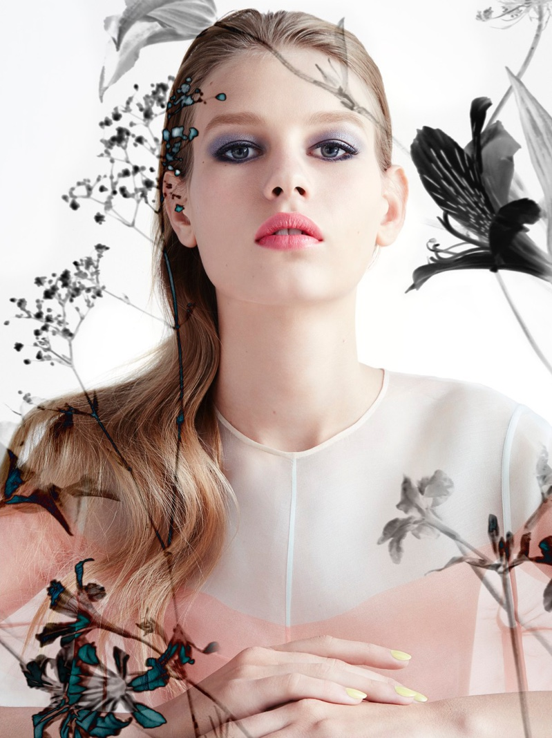 Sofia Mechetner Models Spring Makeup Trends For Dior Magazine