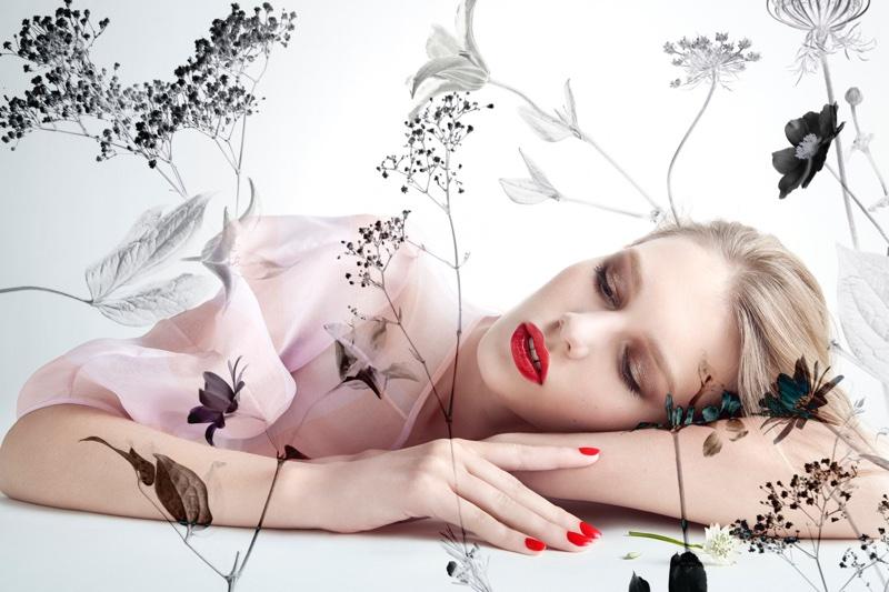 Sofia Mechetner Models Spring Makeup Trends for Dior Magazine
