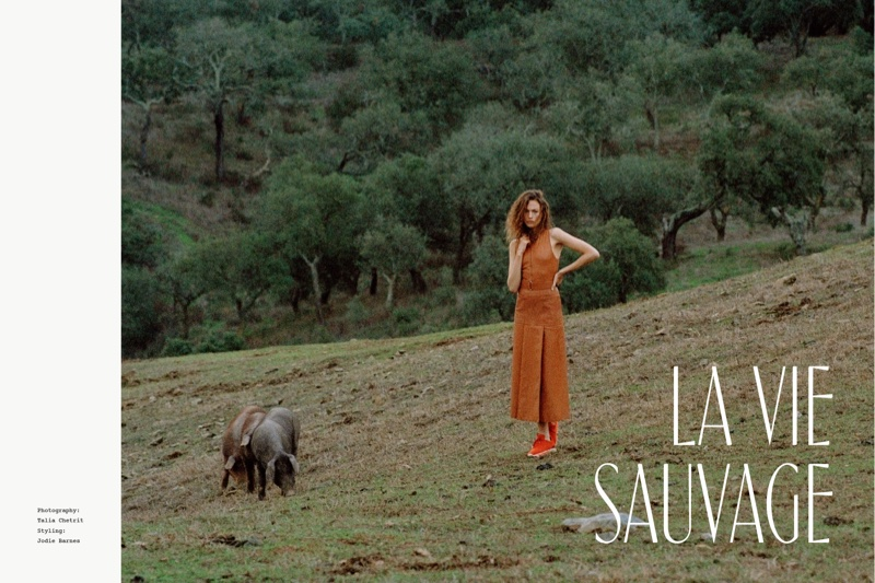 Le Vie Sauvage: Sophia Ahrens Is A Nature Girl In Le Monde D`Hermes