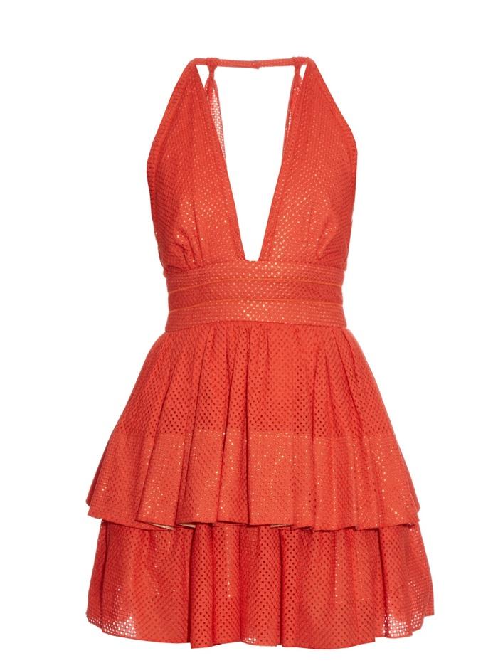 Sophie Theallet Plunging Neckline Dress