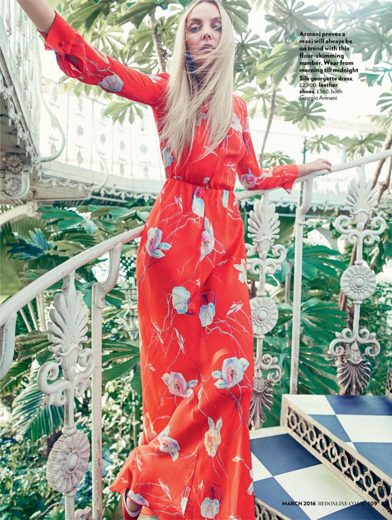 Heather Marks Wears Dreamy Dresses for Red by Max Abadian
