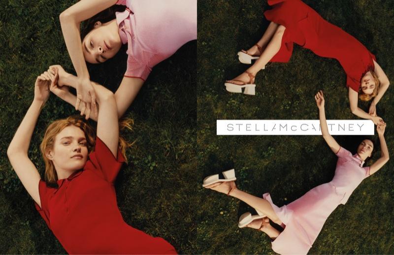 Natalia Vodianova + Mariacarla Boscono Front Stella McCartney's Spring 2016 Campaign