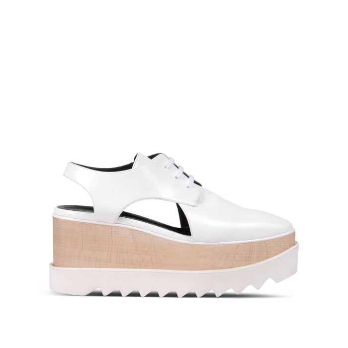 Stella McCartney White Cut-Out Wedges
