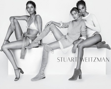 See More Photos of Gigi, Joan & Lily for Stuart Weitzman's Spring Ads