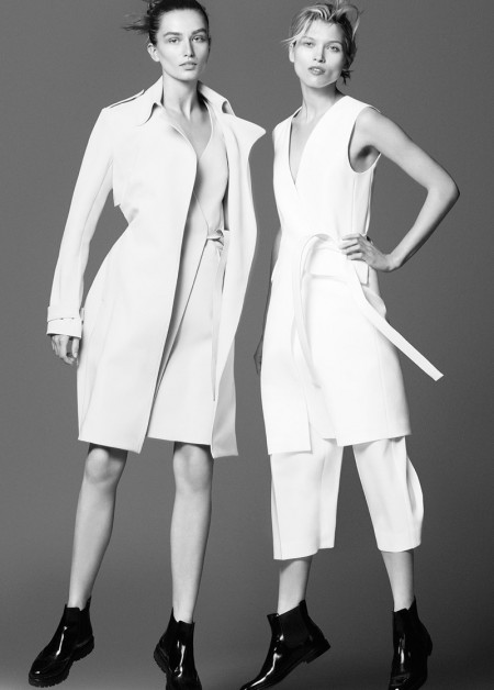 Andreea Diaconu and Hana Jiricikova star in Theory's spring-summer 2016 campaign
