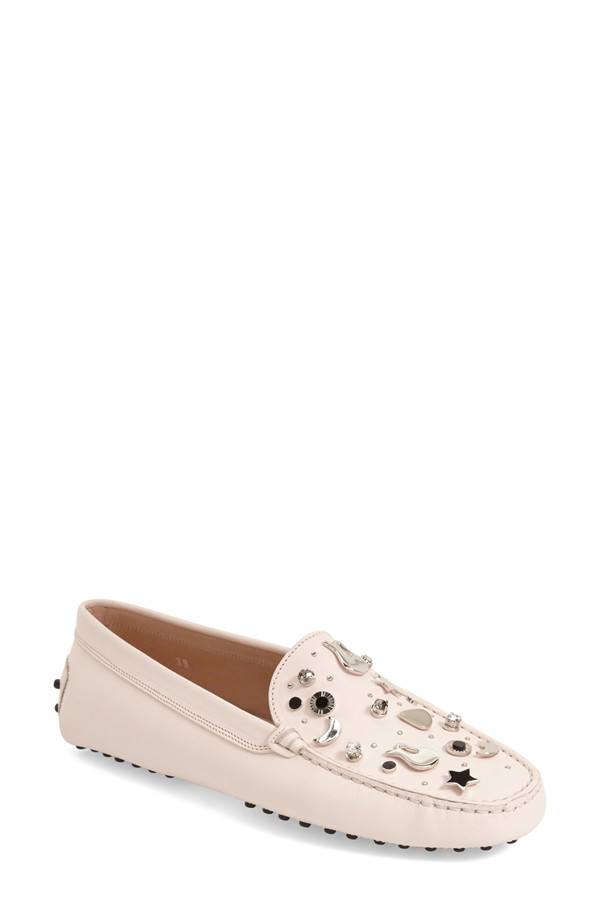 Tod's Gommini Guitar Embellished Driving Loafer