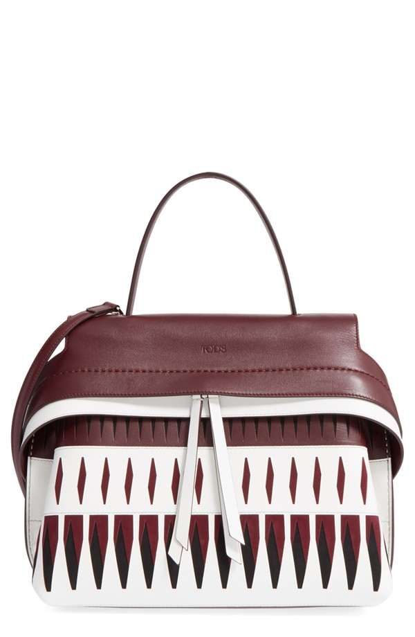 Tod's Small Wave Bag with Lasercut Detail