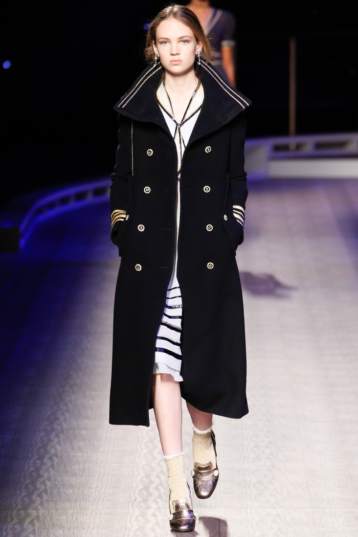 Tommy Hilfiger features officer's coat on fall 2016 runway