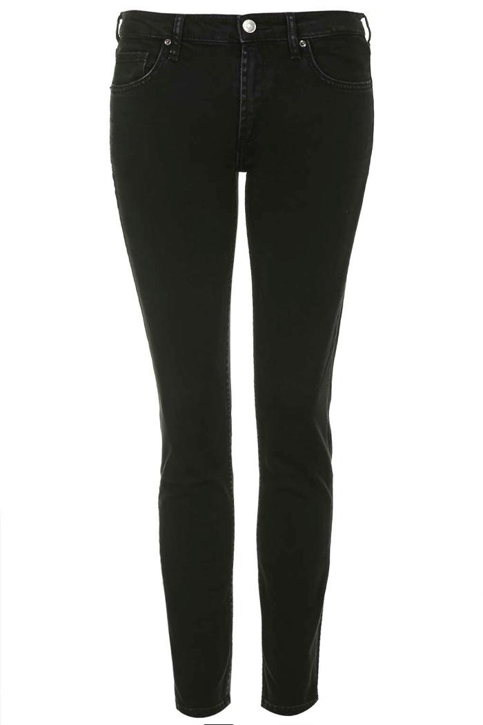 Topshop Baxter Black Slim Leg Jeans