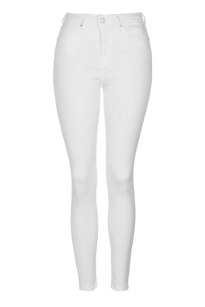 Topshop Jamie White Skinny Jeans