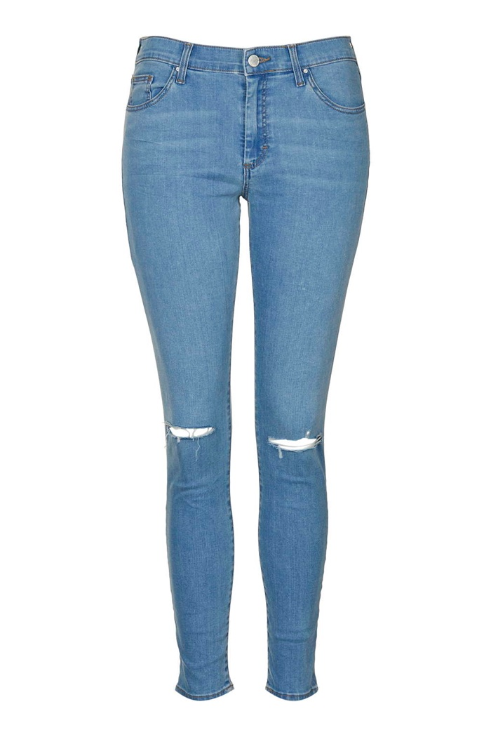 Topshop Leigh Ripped Jeans