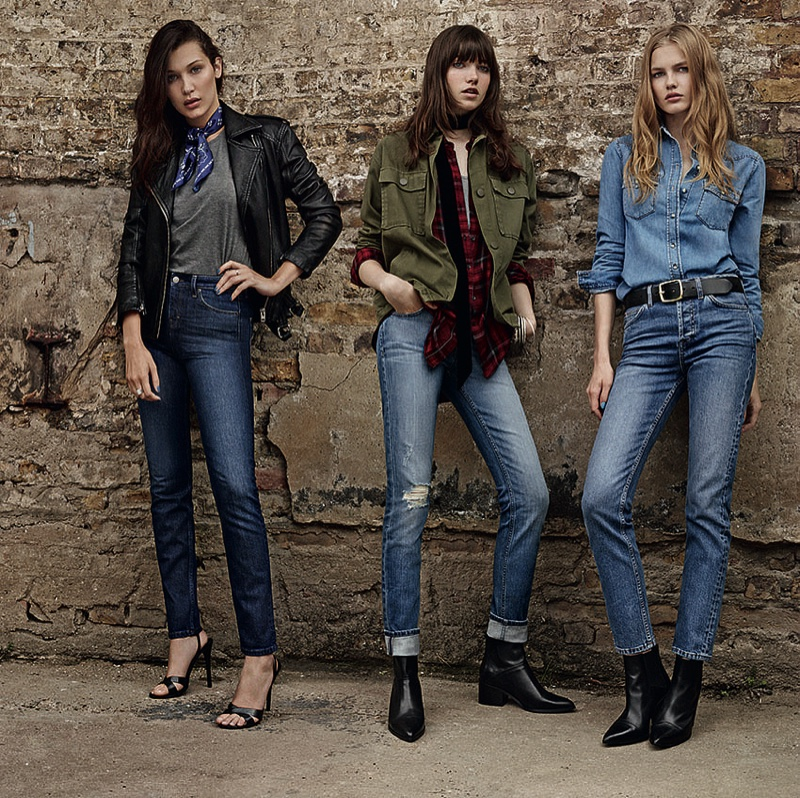 Topshop Enlists 9 Top Models for Spring Denim Campaign