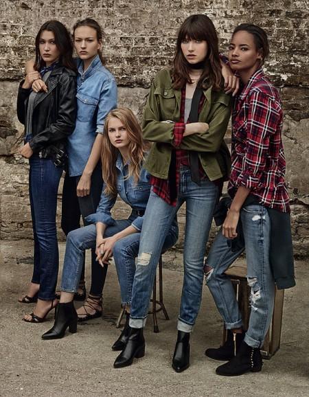 Topshop Enlists 9 Top Models for Spring Denim Campaign