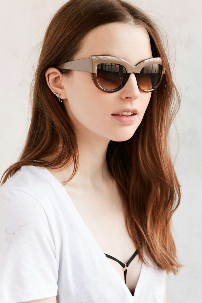 Urban Outfitters Colorfade Cat Eye Sunglasses $16.00