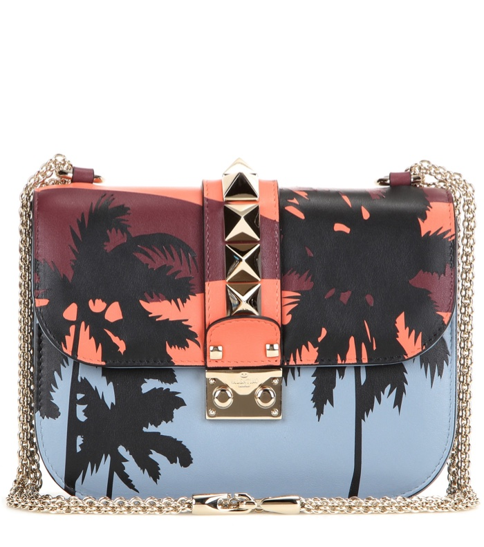 Valentino Hawaiian Couture Embellished Lock Bag