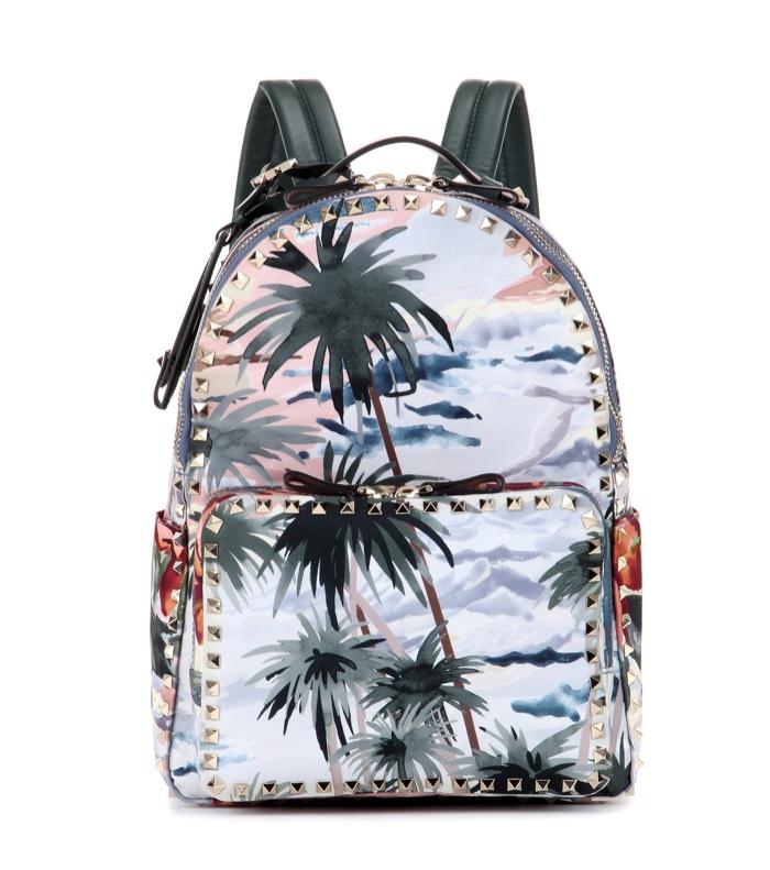 Valentino Hawaiian Couture Printed Stud Backpack