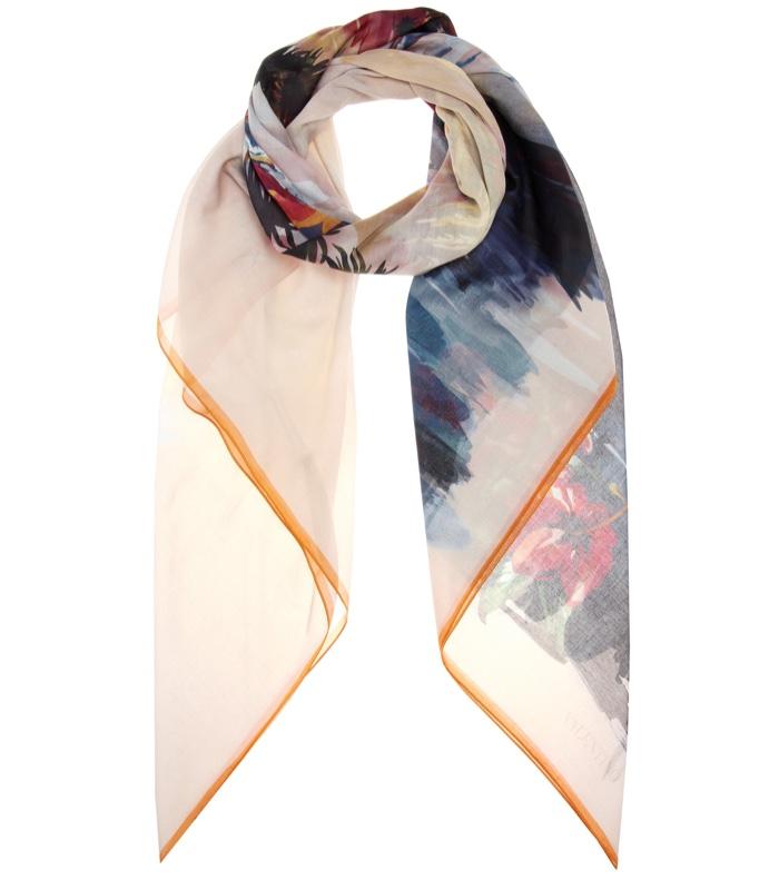 Valentino Hawaiian Couture Printed Cotton-Silk Scarf