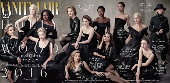 Actresses Wow In Black On Vanity Fair`s 2016 Hollywood Issue