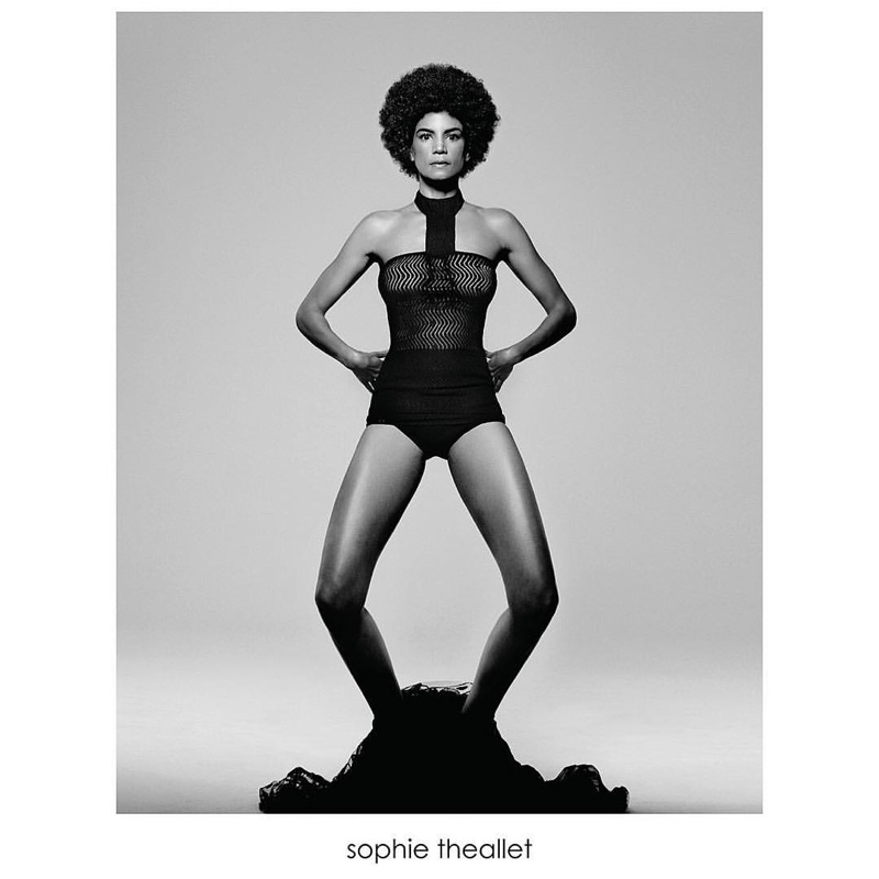 Veronica Webb flaunts her supermodel figure in a bodysuit from Sophie Theallet's spring-summer 2016 collection