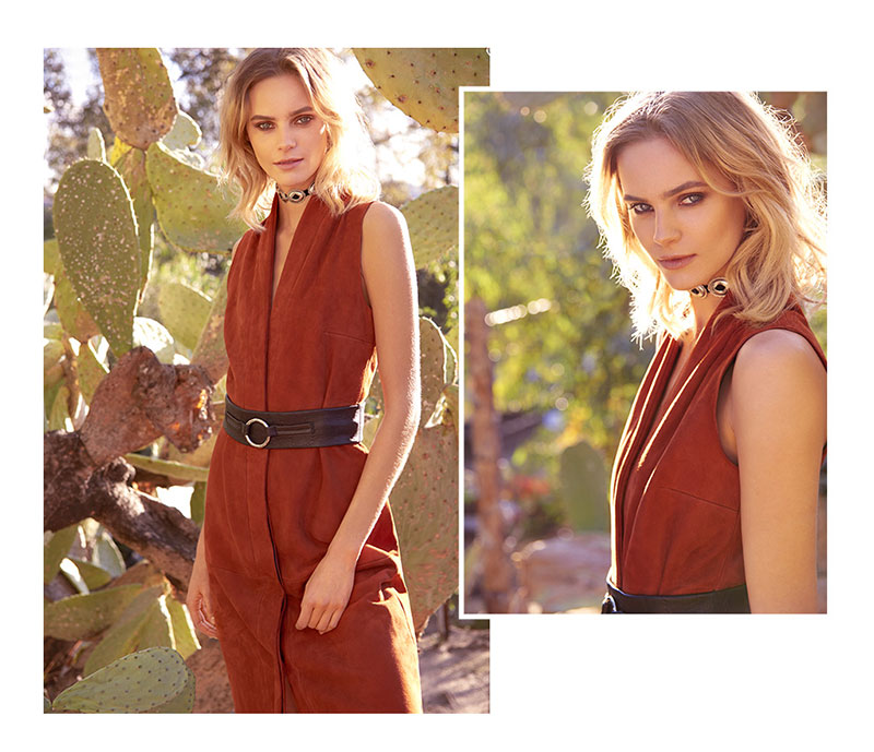 VEDA New Suede Dress and Vanessa Mooney Concho Choker Necklace