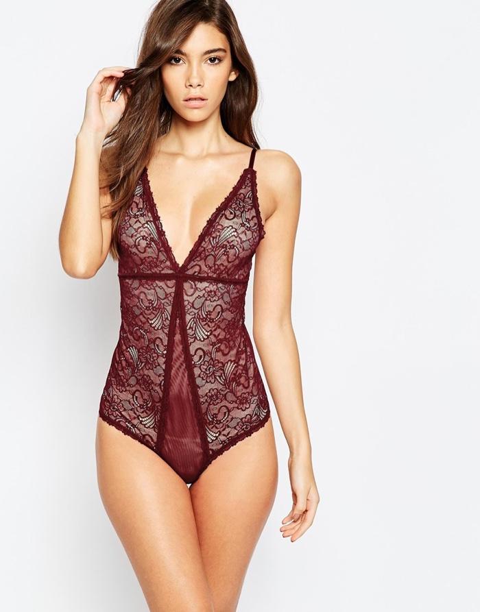 Y.A.S. Red Lace Stella Bodysuit