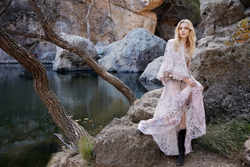 Zlata Semenko Models Boho Style for ELLE by Yelena Yemchuk