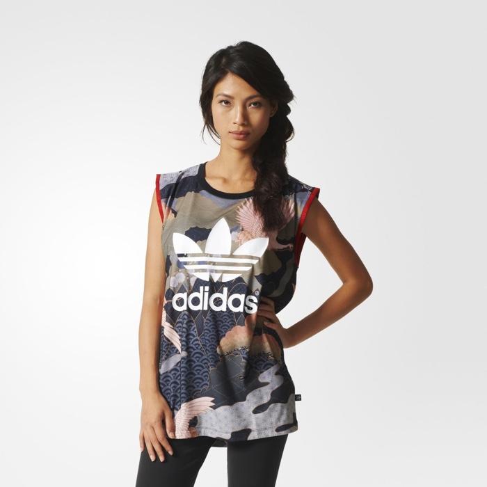 Rita Ora x adidas Originals Kimono Print Tank Top