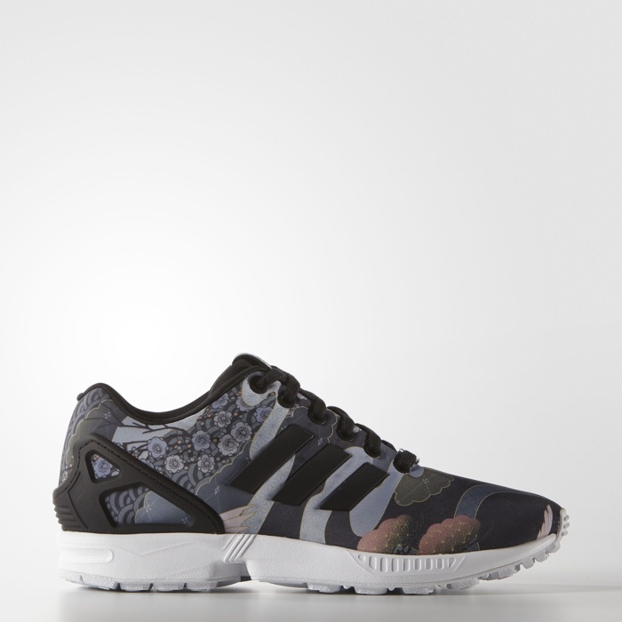 Rita Ora x adidas Originals ZX Flux Sneakers with Kimono Print