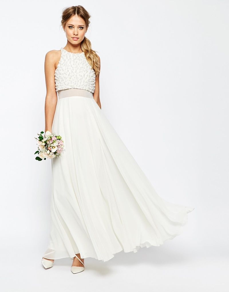 Asos bridal wedding dresses 2016 shop for Crop top wedding dress