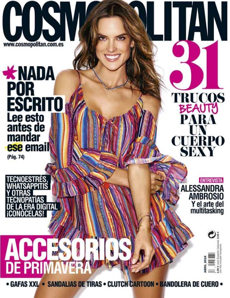 Alessandra Ambrosio on Cosmopolitan Spain April 2016 Cover