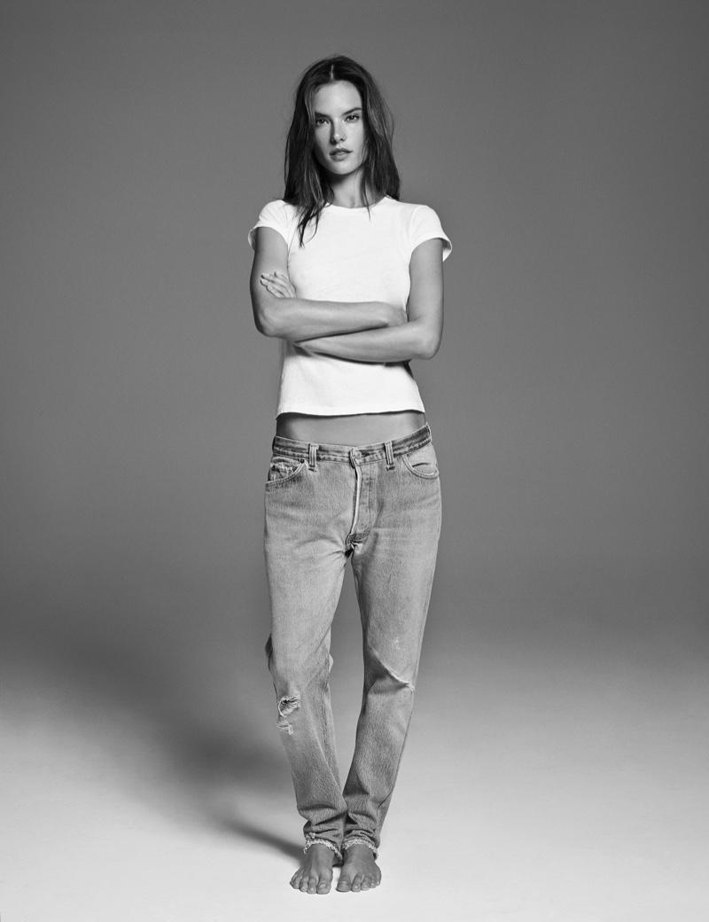 Alessandra Ambrosio stars in Re/Done x Hanes campaign