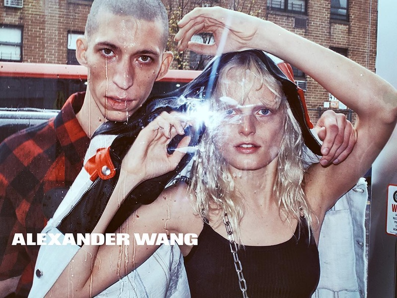 Hanne Gaby Odiele and John Swiatek star in Alexander Wang's spring-summer 2016 campaign