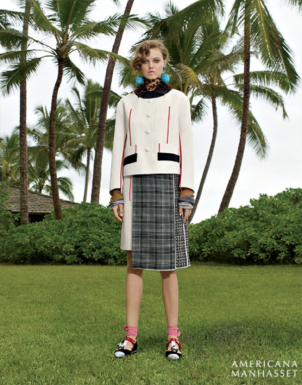 Lindsey Wixson stars in Americana Manhasset's spring 2016 campaign