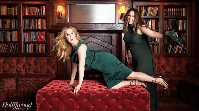Amy Schumer gets cheeky with stylist Leesa Evans for The Hollywood Reporter